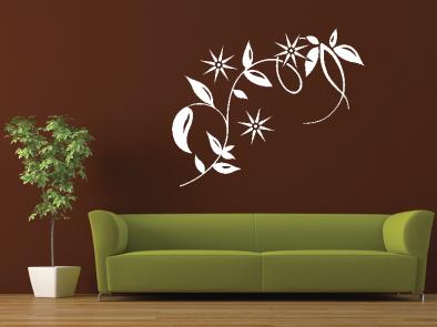 Samolepka na zeď - Dekorační květina