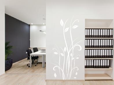 Samolepka na zeď - Květinový motiv 2