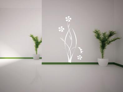 Samolepka na zeď - Květinový motiv 3