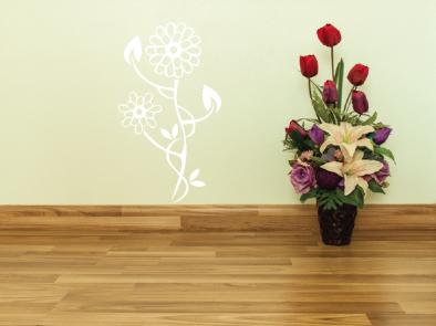 Samolepka na zeď - Květinový motiv 4