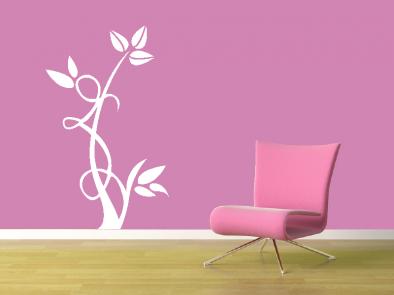 Samolepka na zeď - Květinový motiv 5