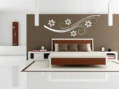 Samolepka na zeď - Vysoký květinový motiv 4