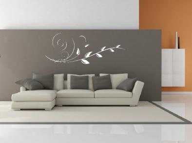 Samolepka na zeď - Vysoký květinový motiv 5