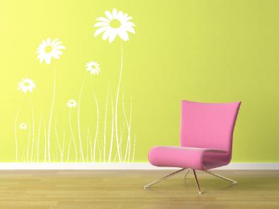 Samolepka na zeď - Luční květiny