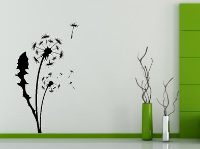 Samolepka na zeď - Pampeliška