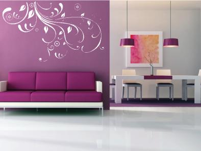 Samolepka na zeď - Popínavá květina