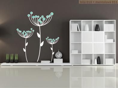 Samolepka na zeď - Suché květy v2
