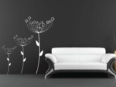 Samolepka na zeď - Suché květy v3