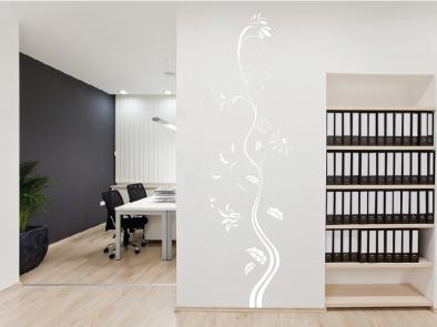 Samolepka na zeď - Vysoký květinový motiv 3