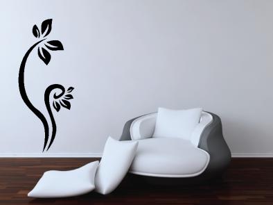 Samolepka na zeď - Vysoký květinový motiv 6