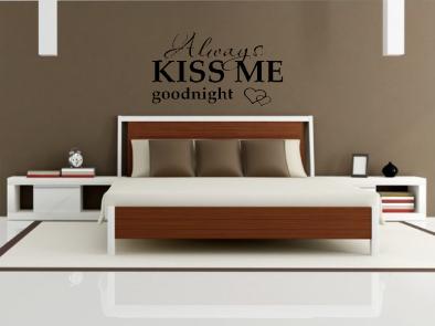 Samolepka na zeď - Always kiss me