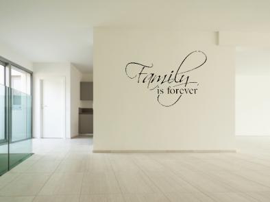 Samolepka na zeď - Family is forever