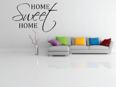 Samolepka na zeď - Home sweet home