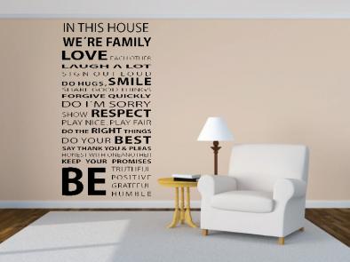 Samolepka na zeď - V tomto domě En v.4