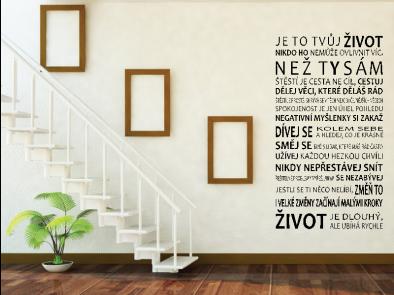 Samolepka na zeď - Je to tvůj život
