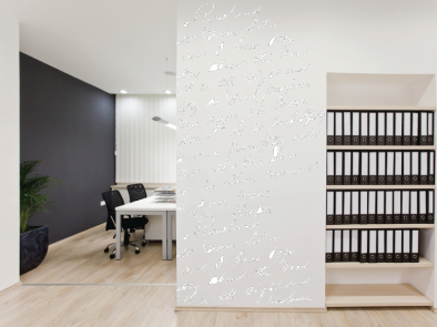 Samolepka na zeď - Rukopis