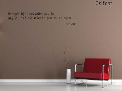 Samolepka na zeď - Vlastní text písmo Osifont