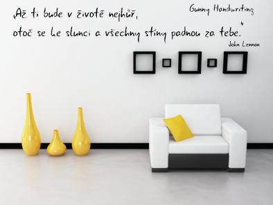 Samolepka na zeď - Vlastní text písmo Gunny Handwriting
