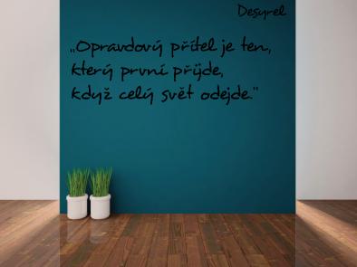 Samolepka na zeď - Vlastní text písmo Desyrel