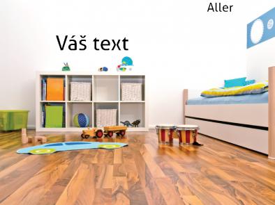 "Vlastní text písmo ""Aller"""