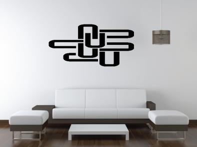 Samolepka na zeď - Ú-motiv