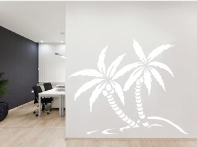 Samolepka na zeď - Dvě palmy