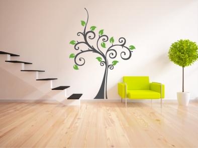 Samolepka na zeď - Kudrnatý strom
