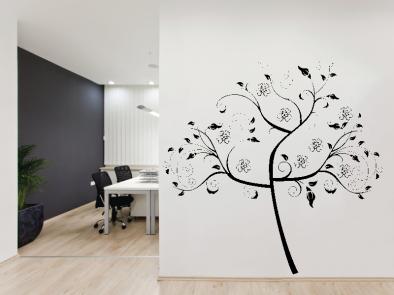 Samolepka na zeď - Moderní strom v2