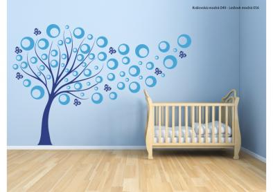 Samolepka na zeď - Strom s bublinkami V2
