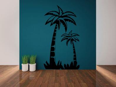 Samolepka na zeď - Palmový háj