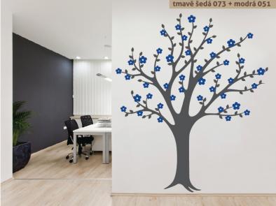 Samolepka na zeď - Rozkvetlý strom v2