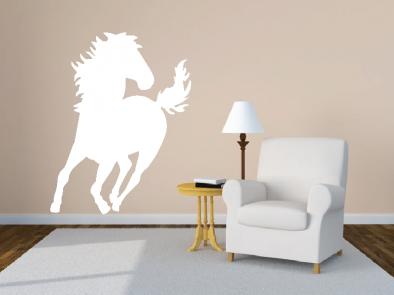 Samolepka na zeď - Běžící hřebec