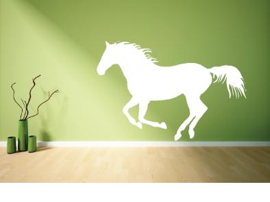 Samolepka na zeď - Běžící kůň