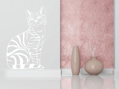 Samolepka na zeď - Kočka