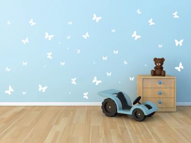 Samolepka na zeď - Sada motýlků