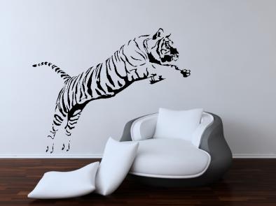 Samolepka na zeď - Tygr ve skoku