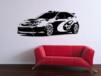 Samolepka na zeď - Subaru Impreza v2