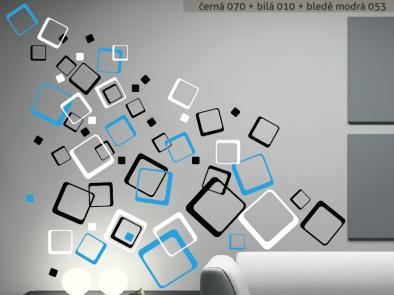 Samolepka na zeď - Barevné čtverce
