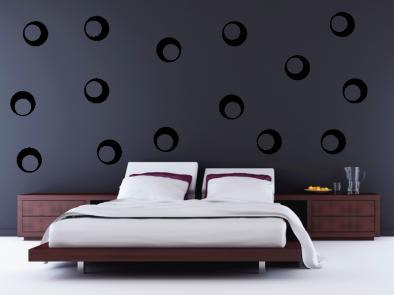 Samolepka na zeď - Dekorativní bubliny
