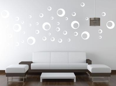 Samolepka na zeď - Kruhy