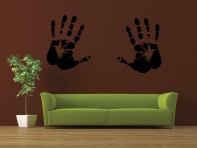 Samolepka na zeď - Dvě dlaně