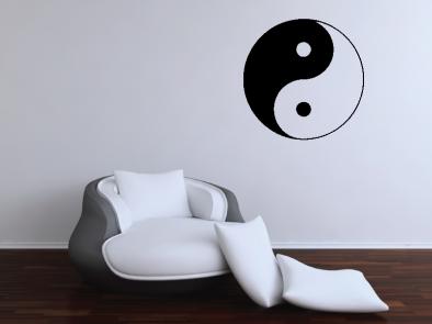 Samolepka na zeď - Jing jang