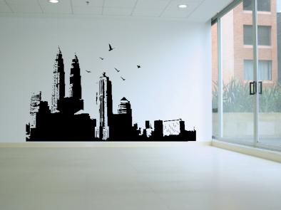 Samolepka na zeď - Město