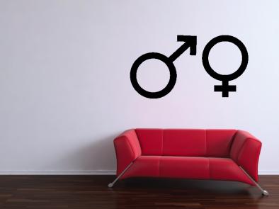 Samolepka na zeď - Muž a žena