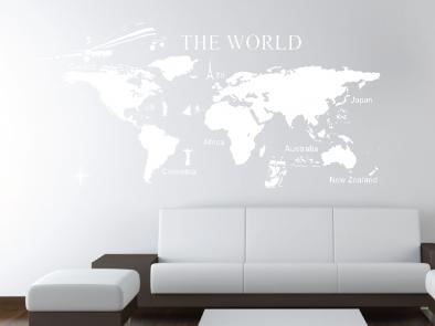 Samolepka na zeď - Cestování