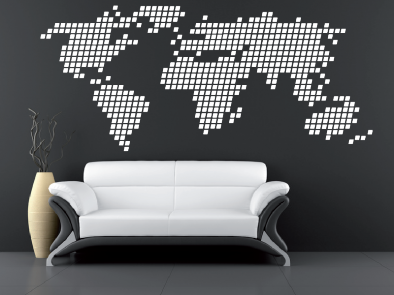 Samolepka na zeď - Geometrický svět