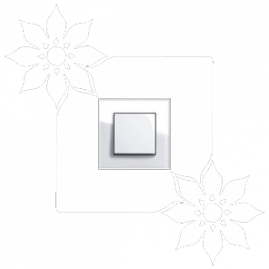 Samolepka pod vypínač - Dva květy