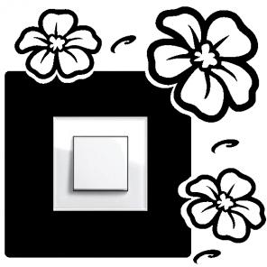 Samolepka na vypínač - květiny