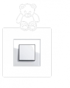 Samolepka pod vypínač - Medvídek
