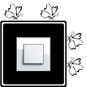 Samolepka pod vypínač - Motýlci